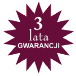 3 lata gwarancji w systemie door to door
