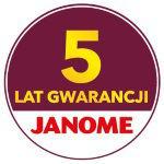 Janome 5 lat gwarancji (door to door)