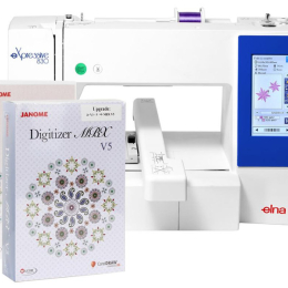 Hafciarka Elna 830 + program Janome Digitizer JR z aktualizacją do MBX!