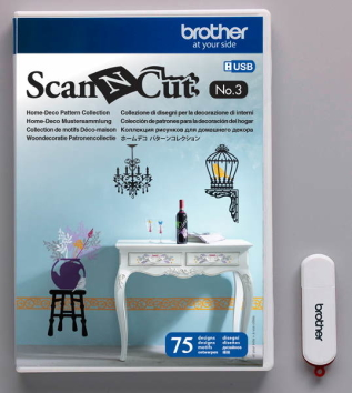 Pendrive z zestawem wzorów Home-Deco do Brother ScanNcut  - CAUSB3